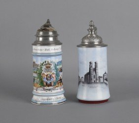 Regimental Stein, Dated 1898, Together With A S