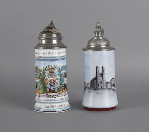 96: Regimental stein, dated 1898, together with a s