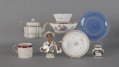 112: Miscellaneous porcelain and pottery, 19th c., to