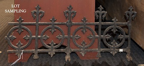 695: Group of iron fencing.