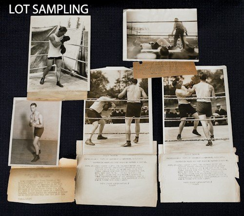 696: Collection of early boxing photos, autographs, et