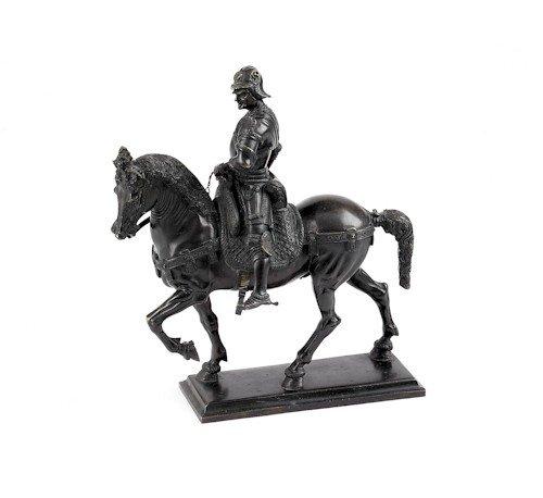 717: Bronze Venetian style equestrian figure, 19th c.,