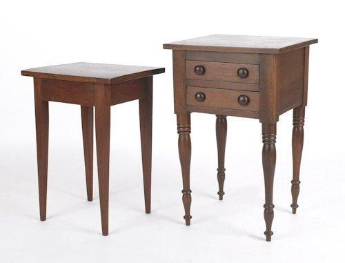 722: Sheraton walnut two-drawer stand, 29 1/2'' h., 18