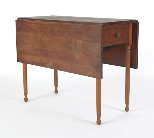 733: Pennsylvania Sheraton cherry Pembroke table, ca.