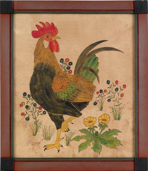 736: G.B. French (American, 20th c.), oil on velvet th