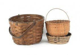 Three Woven Baskets.