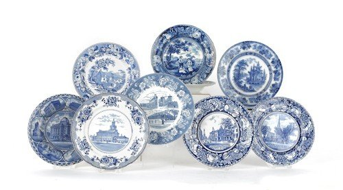 794: Group of blue and white porcelain, to include Sta