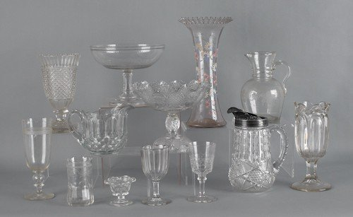 796: Group of clear glass tableware, to include an etc