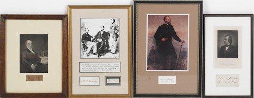 800: Andrew Johnson signature, dated Jan. 28 1869, t