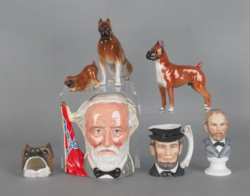 801: Miscellaneous porcelain, to include three pieces