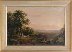 1094: Whitredge (American, 1847), oil on canvas landsca