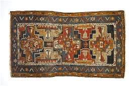 1283: Three Hamadan carpet, together with a Sarouk mat,