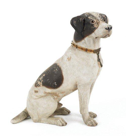 7: Earthenware figure of a terrier, ca. 1900, 22 1