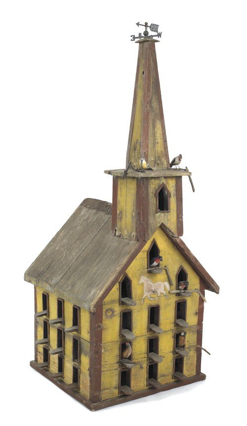 9: Victorian painted pine birdhouse, late 19th c.,