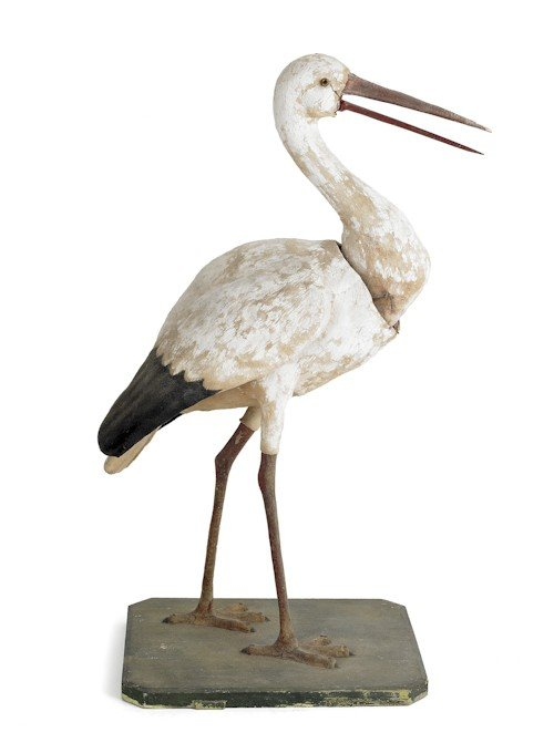 13: Composition nodding heron, late 19th c., with a