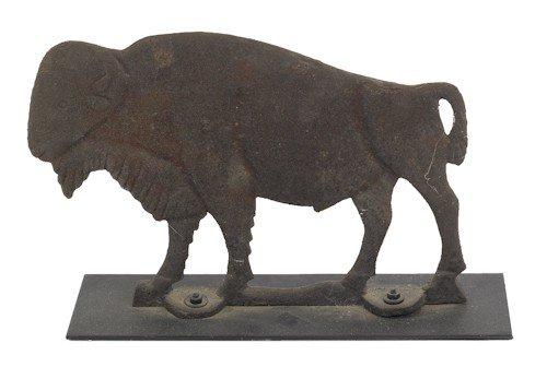 14: Cast iron buffalo mill weight, 19th c., 10 3/4''