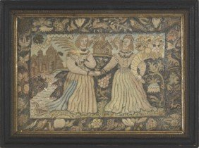 Charles II Silk And Metallic Thread Embroidered