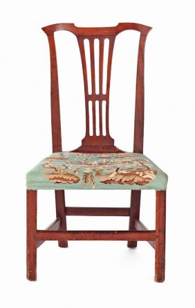 Virginia Chippendale Cherry Side Chair, Ca. 1790