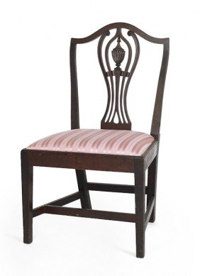 Mid Atlantic Federal Mahogany Dining Chair, Ca.