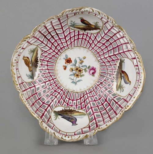324: KPM reticulated porcelain bowl, 19th c., with h