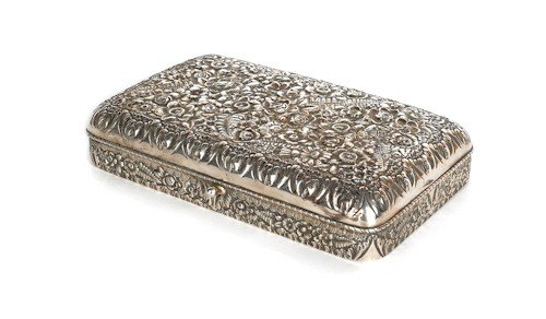 329: Tiffany & Co. sterling silver dresser box, with