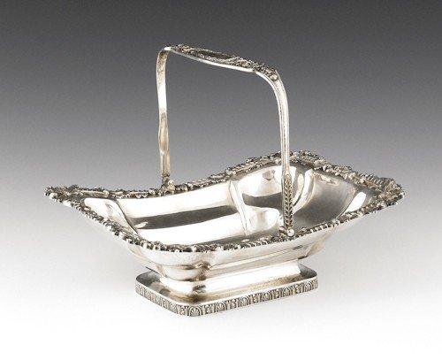 339: Philadelphia silver basket, ca. 1815, bearing t