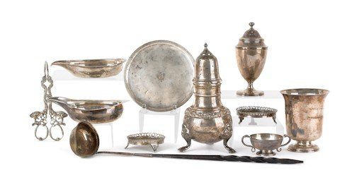 343: Group of Continental silver, 18th/19th c., to i