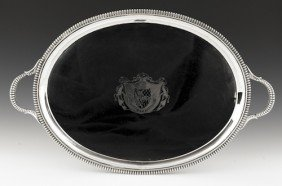 English Silver Tray, 1804-1805, Bearing The Tou