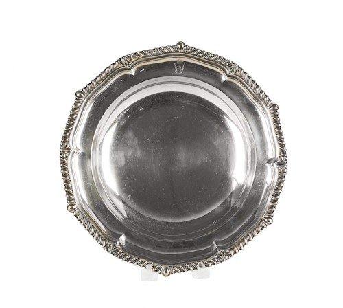 355: English silver shallow bowl, 1814-1815, bearing