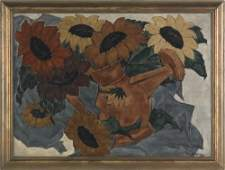 594: Henri Burkhard (American, 1892-1956), oil on ca