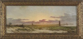 Arthur Parton (American, 1842-1914), Oil On Can