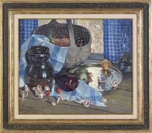611: Arthur Meltzer (American, 1893-1989), oil on ca