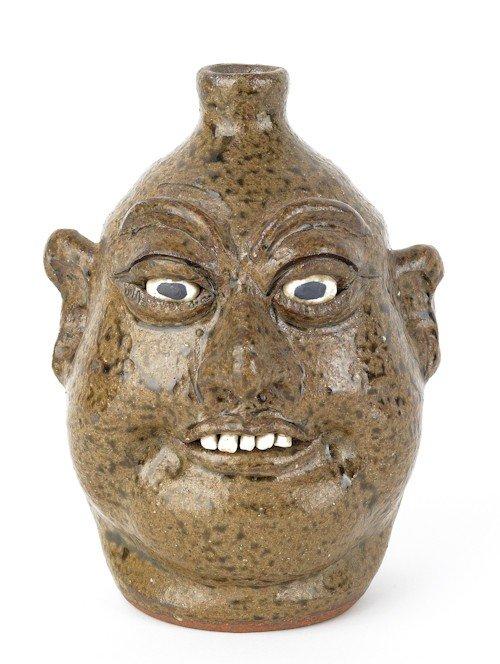 3: Georgia stoneware face jug by Lanier Meaders, sig