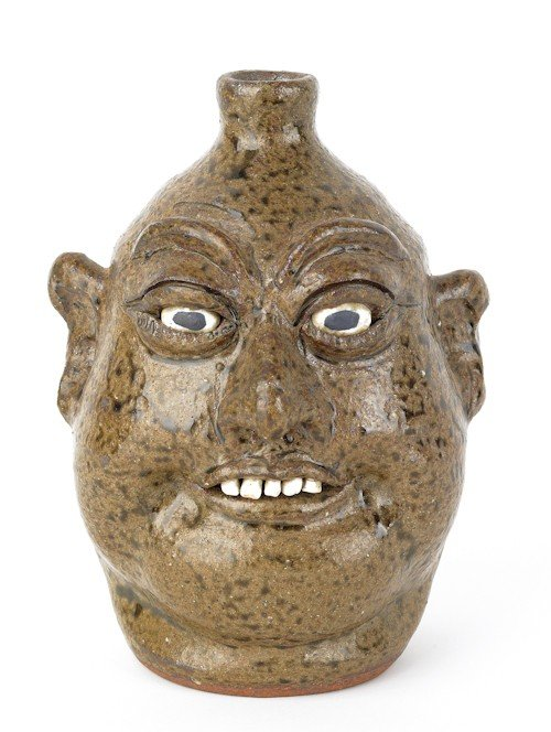 3: Georgia stoneware face jug by Lanier Meaders, sig