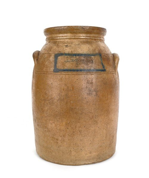 17: New Jersey two-gallon stoneware crock, 19th c., i