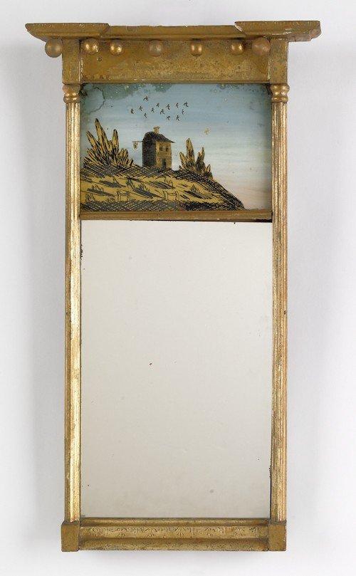 31: Federal giltwood mirror, ca. 1810, 24'' x 10 1/4''.
