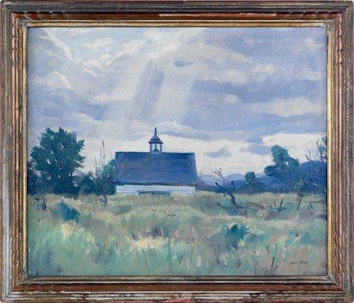 34: Gene Klebe (American, b. 1907), oil on canvas lan