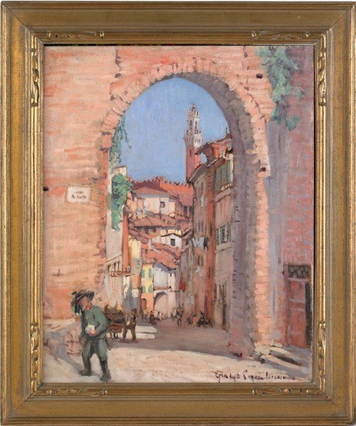 38: Two oil on board landscapes signed Gladys Logan