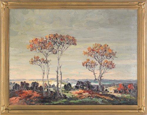 39: Leonid Gechtoff (American, 1883-1941), oil on boa