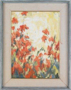 Judith Ingram (American, B. 1926), Oil On Canvas