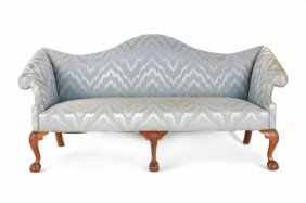 Irion Chippendale Style Mahogany Sofa, 40'' H., 83
