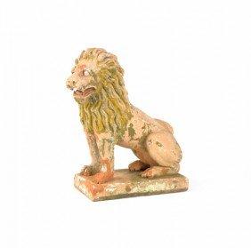 Terra Cotta Lion Lawn Ornament, 29'' H.