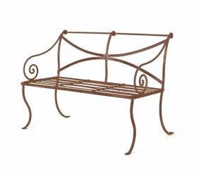 Pair Of Iron Garden Benches, 36'' H., 47 1/2'' W.