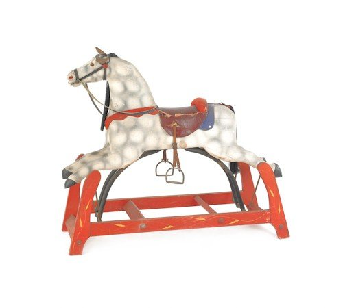 172: Carved and painted hobby horse, late 19th c., 32''