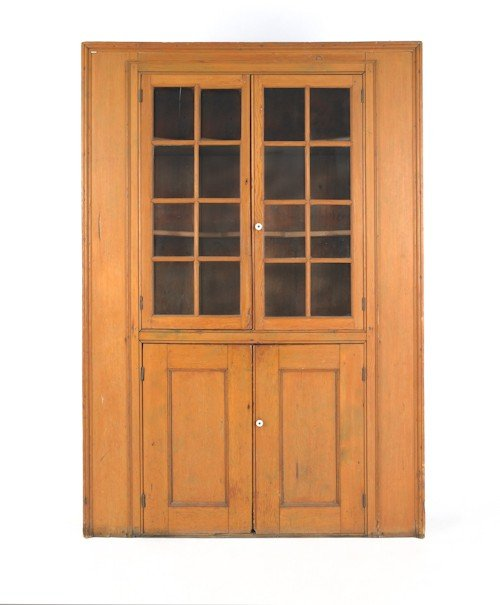 178: Pennsylvania pine wall cupboard, 19th c., 79 1/2''