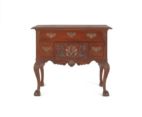 181: Chippendale style carved mahogany lowboy, 29'' h.,