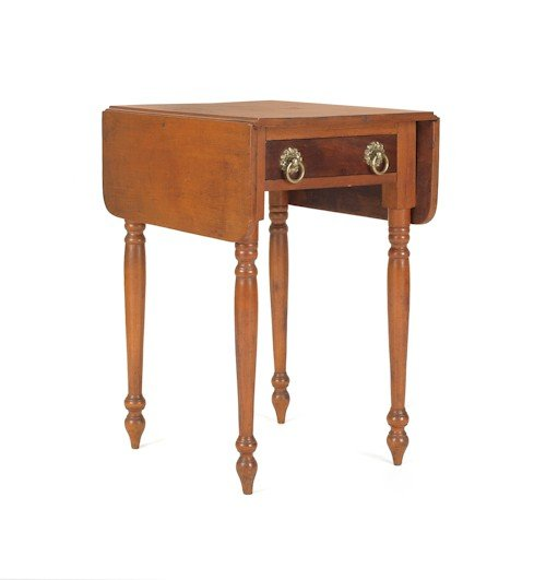 183: Sheraton mixed woods one-drawer stand, 28 1/2'' h.