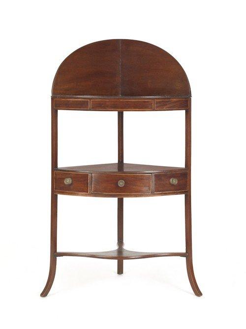 184: Georgian mahogany corner wash stand, late 18th c.