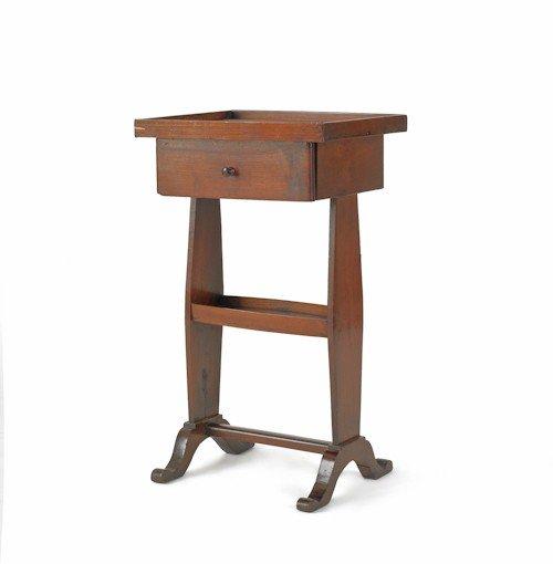 191: Walnut tray top stand, ca. 1835, 27'' h., 15 1/2''