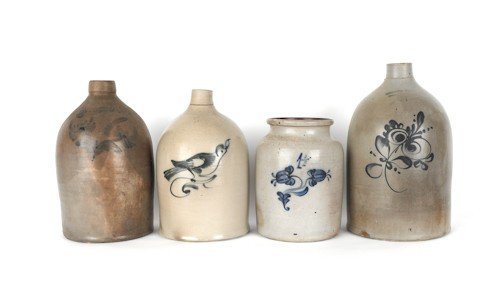193: Four pieces of American stoneware, 19th c., to in